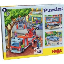 Puzzles Police, pompiers, etc.