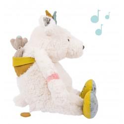 Poupée musique ours blanc...